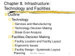 chapter 8 infrastructure technology and facilities