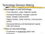 technology decision making