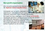 non profit organisaties