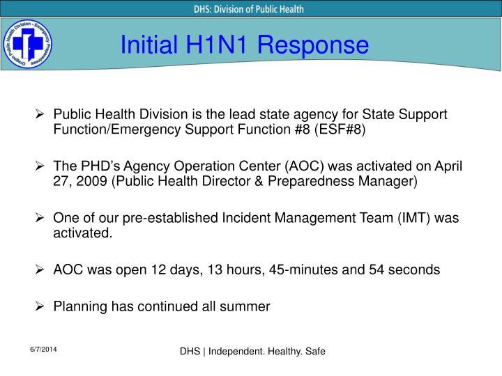 Initial h1n1 response