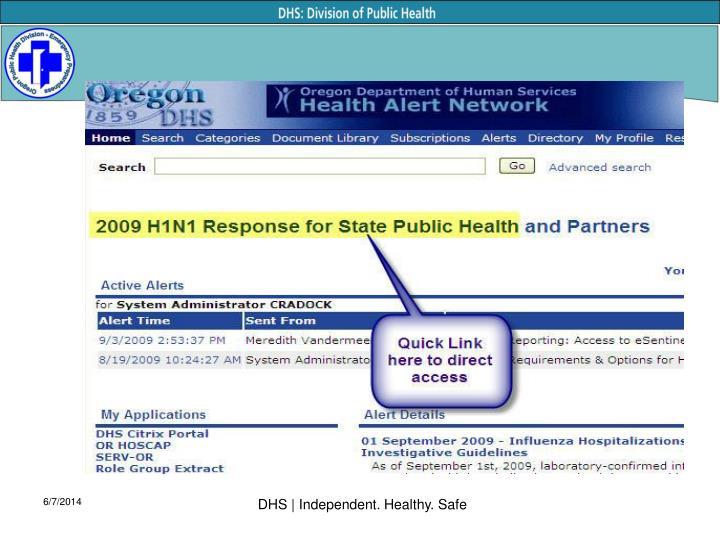 DHS | Independent. Healthy. Safe
