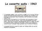 la cassette audio 1963