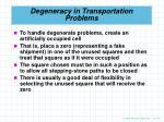 degeneracy in transportation problems1