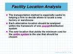 facility location analysis