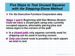 five steps to test unused squares with the stepping stone method2