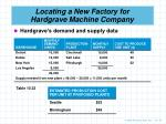 locating a new factory for hardgrave machine company1