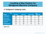 locating a new factory for hardgrave machine company2