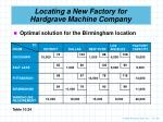locating a new factory for hardgrave machine company3