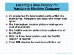 locating a new factory for hardgrave machine company5
