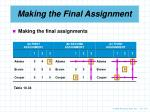 making the final assignment2