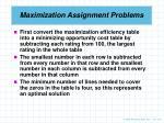 maximization assignment problems4
