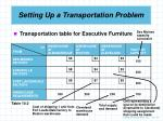 setting up a transportation problem4