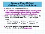stepping stone method finding a least cost solution1