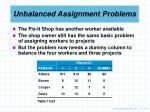 unbalanced assignment problems1