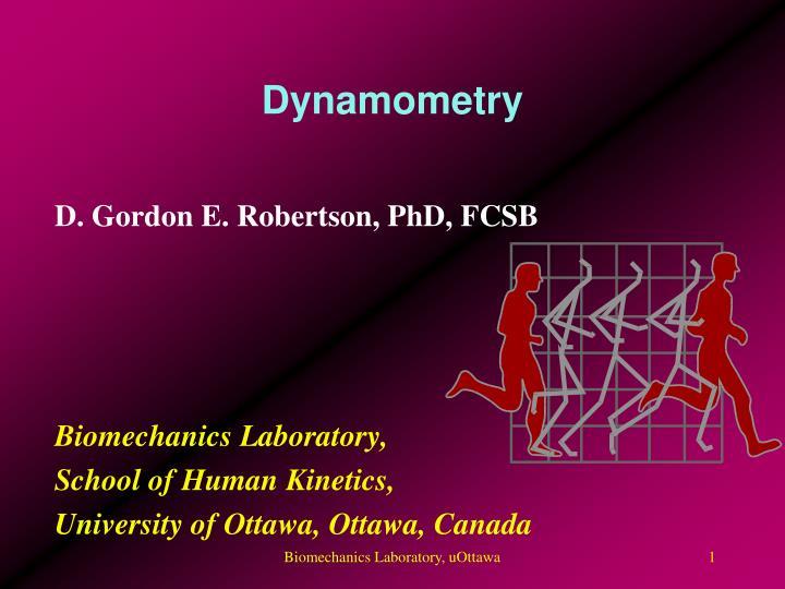 dynamometry n.