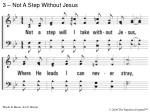 3 not a step without jesus