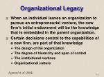 organizational legacy