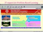 it support for problem based learning