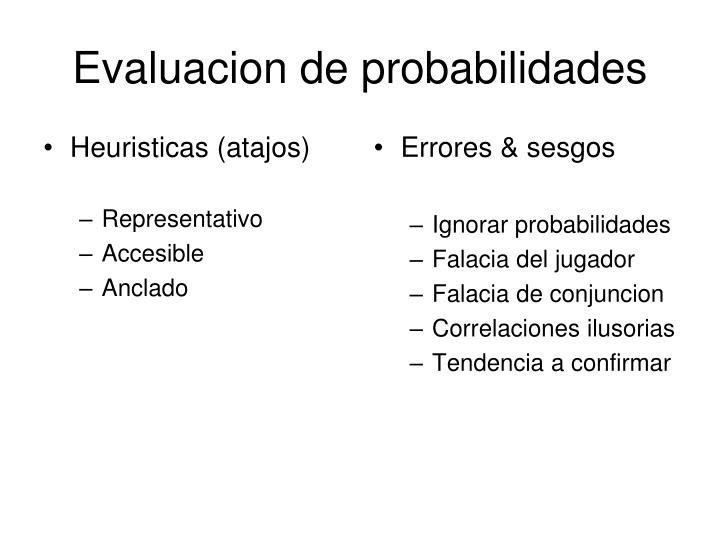 evaluacion de probabilidades n.