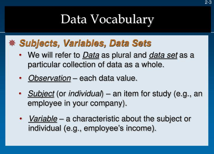 Data vocabulary1