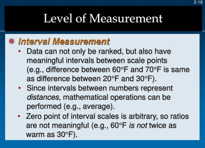 Level of Measurement