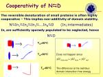 cooperativity of n d