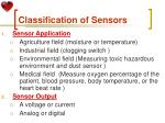 classification of sensors