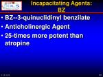 incapacitating agents bz