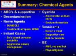summary chemical agents