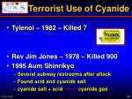 terrorist use of cyanide
