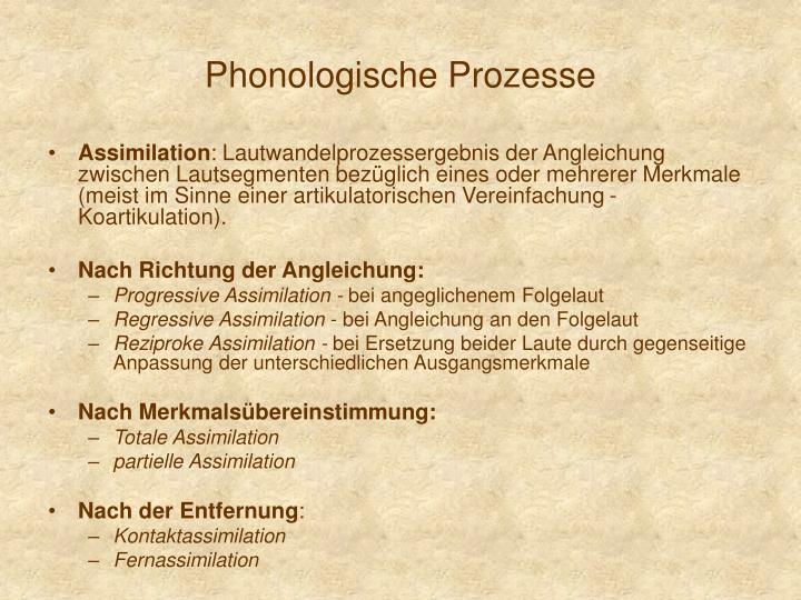 Phonologische Prozesse