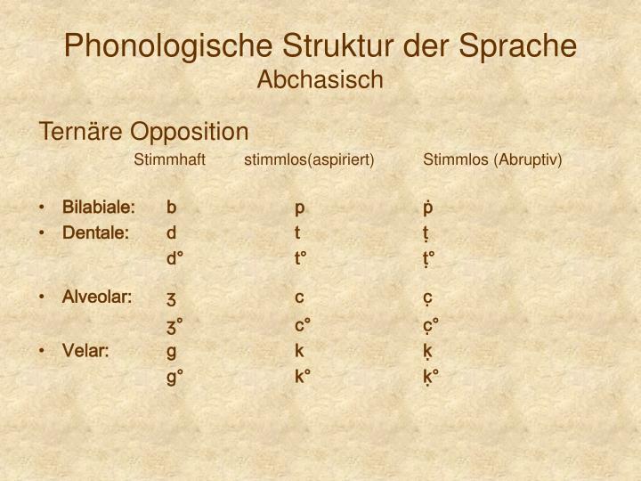 Phonologische Struktur der Sprache