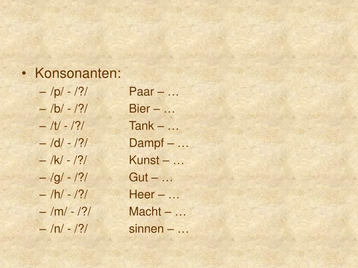 Konsonanten: