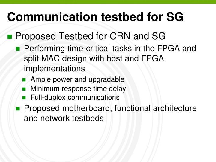 Communication testbed for SG