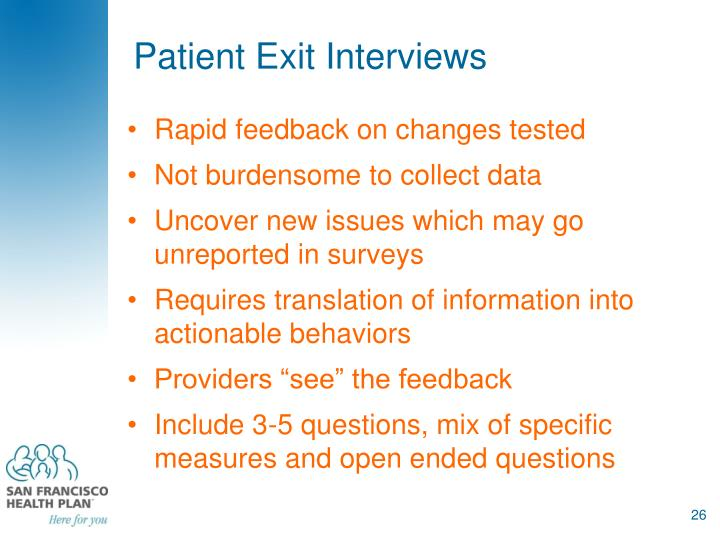 Patient Exit Interviews