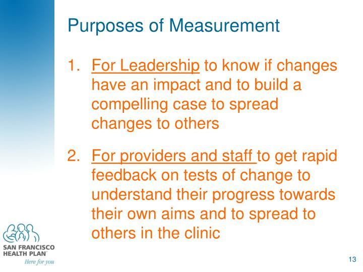 Purposes of Measurement