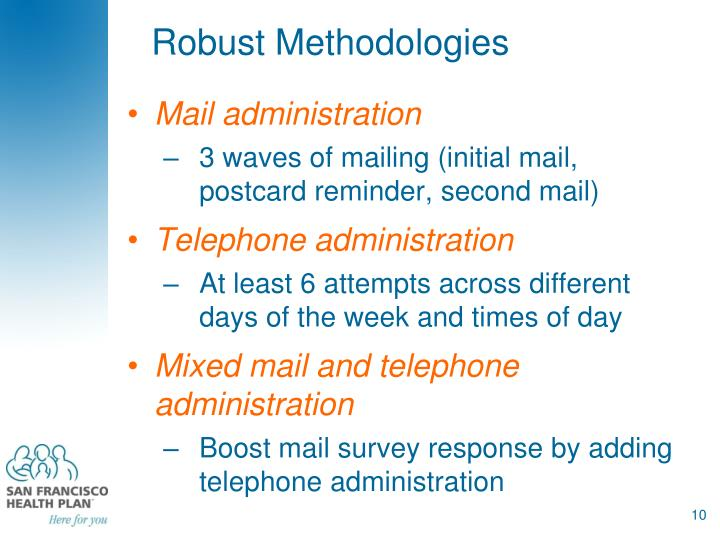 Robust Methodologies