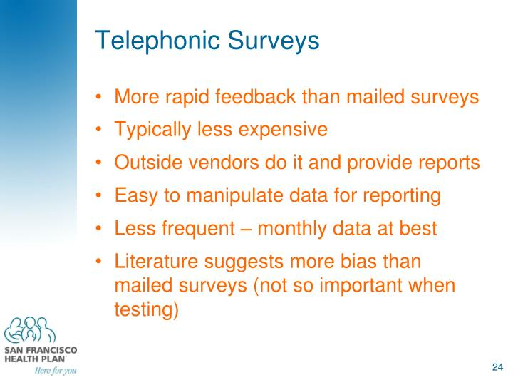 Telephonic Surveys