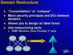 domain restructure