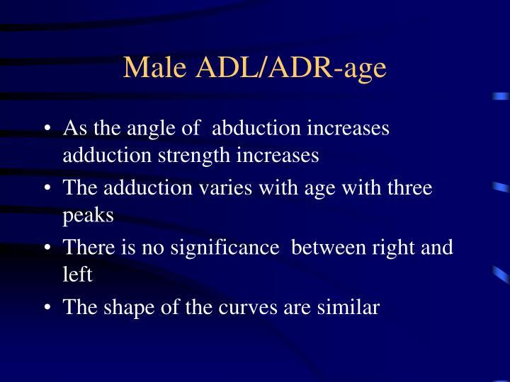 Male ADL/ADR-age
