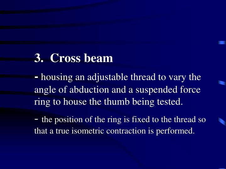 3.  Cross beam