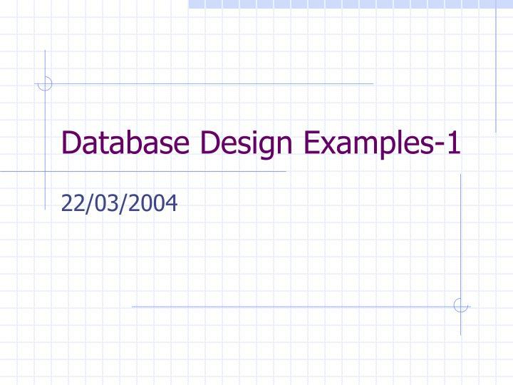 database design examples 1 n.