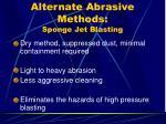 alternate abrasive methods sponge jet blasting