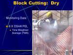 block cutting dry