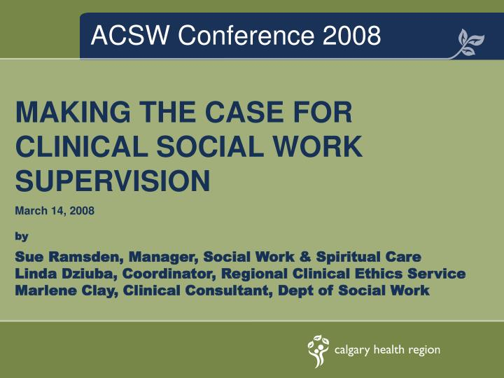 acsw conference 2008 n.