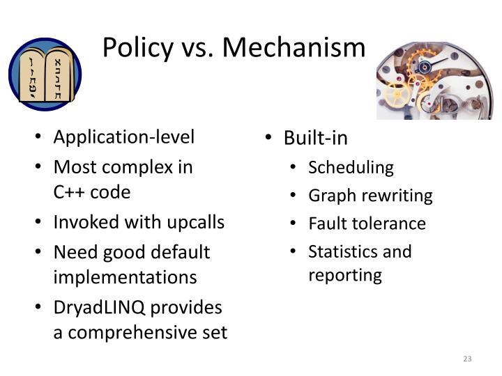Policy vs. Mechanism