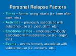 personal relapse factors1
