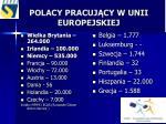 polacy pracuj cy w unii europejskiej