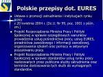 polskie przepisy dot eures