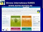 strona internetowa eures www eures europa eu